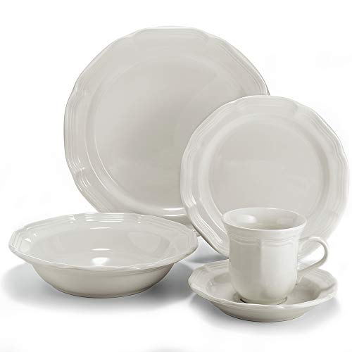 - Mikasa 5223387 French Countryside 40-Piece Dinnerware Set, Service for 8