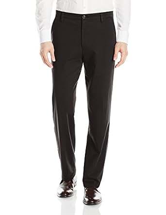 Dockers Easy Khaki D3 Classic-Fit Flat-Front Pant, Black, 30 30