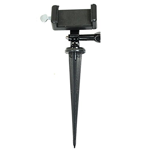 (Golf Gadgets - 8 Inch Ground Stake Swing Recording System | Mount Your Smartphone. Great for The Range, or Course. Compatible with Most Phones. (Short Ground Stake))