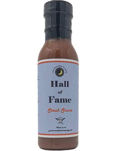 (Premium | Hall of Fame Steak Sauce | Crafted in Small Batches with Farm Fresh Spices for Premium Flavor and Zest)