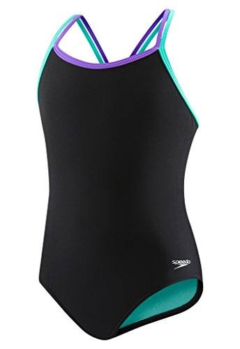 Speedo Criss Cross One Piece Swimsuit, Multi, Size - Practice Speedo Suits