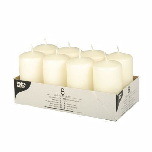 Set velas color crema