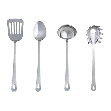 IKEA grunka - 4 pezzi set di utensili da cucina in acciaio inox ...
