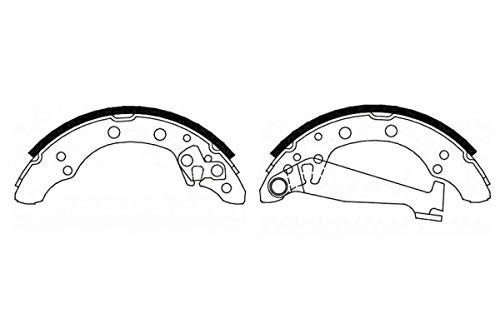 NIBK FN0534 Premium Ceramic Brake Shoes. Dust-less, Quiet, Low Abrasiveness Shoes, High-Grip, Japanese Brand Brake Shoes. ()