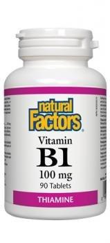 NATURAL FACTORS B-1 Thiamine 100Mg, 90 Count