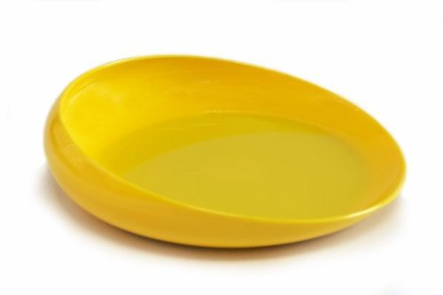 Dish Tumble Forms Round Scoop, 8 Diameter Yellow Dishwasher Safe, 1 ea by Sammons Preston