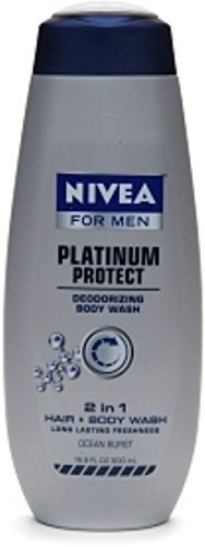 NIVEA FOR MEN Odor Protect Control Body Wash 16.9 oz (Pack of 3)