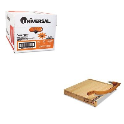 KITSWI1162UNV21200 - Value Kit - Swingline ClassicCut Ingento Solid Maple Paper Trimmer (SWI1162) and Universal Copy Paper (UNV21200)