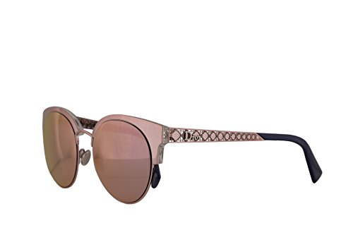 Christian Dior DioramaMini Sunglasses Light Pink w/Grey Rose Gold Mirror Lens 50mm S8R0J Diorama Mini DioramaMinis DioramaMini/s Diorama Mini