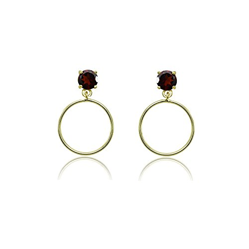 Garnet Dangling Earrings - 5
