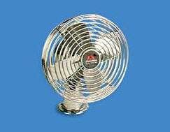12 Volt Heavy Duty 2-Speed Chrome Fan With Mounting Base - 21000