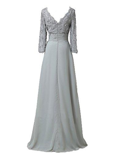 Elegant 2018 Partykleider linie Charmant Langarm Gruen Brautmutterkleider Damen A Lemon Lang Neu Promkleider Abendkleider t1wpxxSq5