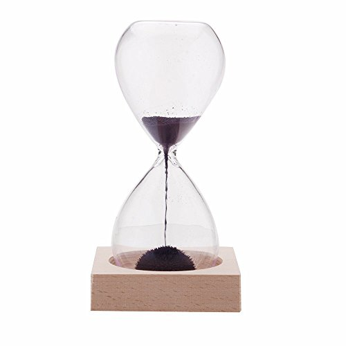 AOMAG Hand-blown Timer Magnet Hourglass / Magnetic Hourglass Sand Timer Clock Glass Classic Home Desk Decor (Sand Magnet)