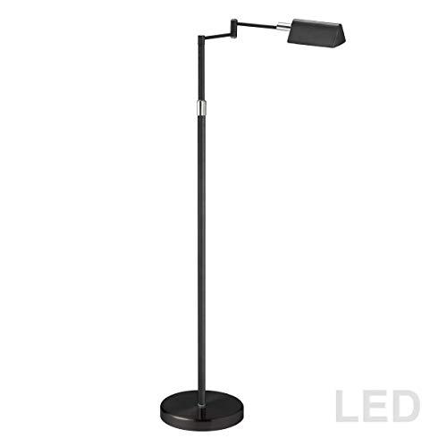 "Dainolite 9257LEDF-BK 23.25"" 9W 1 LED Swing Arm Floor Lamp, Black Finish from Dainolite"