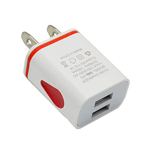 - GLVSZ LED USB 2 Port Wall Home Travel AC Charger Adapter for S7 US Plug RD