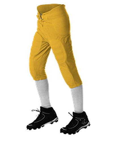Alleson ADULT SOLO FOOTBALL PANT LIGHT GOLD M 687P 687P-LG-M