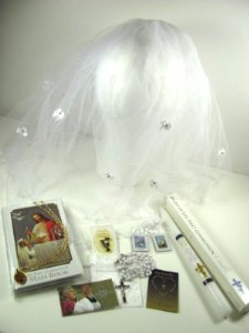 detto XVI Memories First Communion Set - English and Spanish Boy or Girl, Girl-English ()