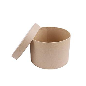 MP PD203 - Juego de 5 cajas scrapbooking redondas: Amazon.es: Oficina y papelería
