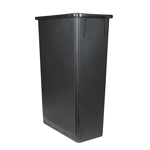 Update International SSC-23BK Space Saver Trash Can, Black 23 Gallons