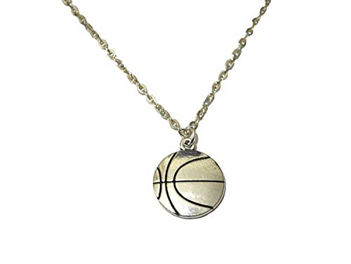 Basketball Halloween Ideas (Basketball Necklace, BBall Player Gift, Large Basketball Charm, BFF, Silver Jewelry,Basketball Jewelry Team Gift Ideas Basketball Player Gift best gift Pendant Necklace,Simple Necklace,charm)