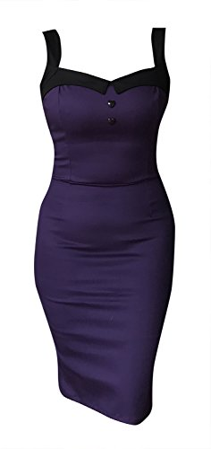 Switchblade Stiletto Women's Darling Dress (Multiple Styles) (Small, Purple) (Purple Dress Zebra)