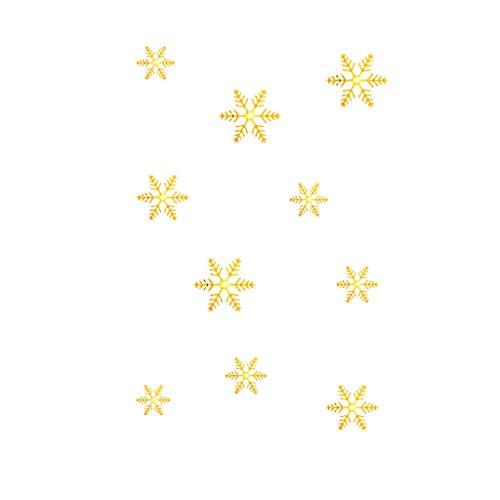 Honestyivan Gold/Silver Snowflake Christmas Wall Sticker Home Decoration Mirror -