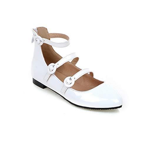 Blanc Femme 36 EU Compensées Sandales 5 Blanc DGU00601 AN PCUqzXwC