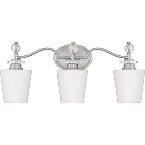 Quoizel HS8603C Hollister Vanity Bath Lighting, 3-Light, 300 Watts, Polished Chrome (10'' H x 23'' W) by Quoizel (Image #4)
