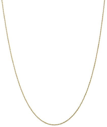 Lite Baby Rope Chain (ICE CARATS 10k Yellow Gold .8mm Lite Baby Link Rope Chain Necklace 14 Inch Fine Jewelry Gift Set For Women Heart)