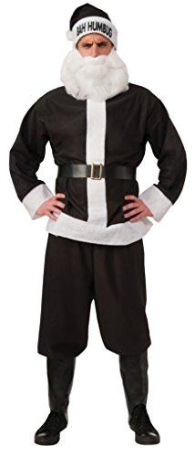 (Rubie's Bah Humbug Santa Suit, Black/White, Standard)