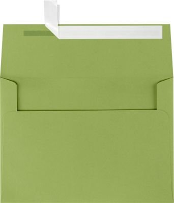 A7 Invitation Envelopes w/Peel & Press (5 1/4 x 7 1/4) - Avocado Green (50 Qty) | Perfect for Invitations, Announcements, Sending Cards, 5x7 Photos | Printable | 80lb Paper | EX4880-27-50 (Sending Fruit In The Mail)
