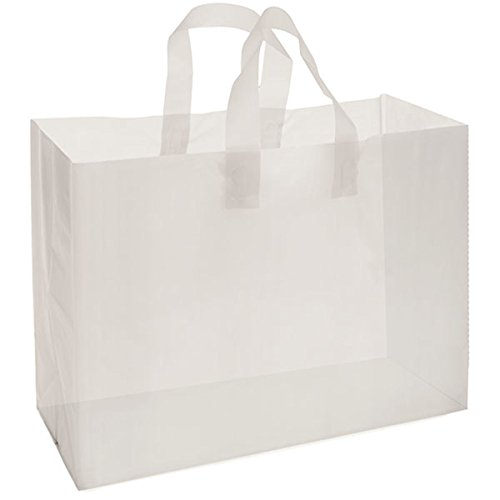 Frosted Smart T Shirt Shopping Bags with Handle 16x6x12 Merchandise Shop White Lot of 250 NEW by Bentley's Display