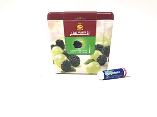 1 Kg. Al Fakher Shisha Molasses - Non Tobacco Graper with Berry Flavour Hookah Water Pipe Sold by SuperStore77 with Trademark Candle and Vapor Inhaler (Best Al Fakher Flavors)