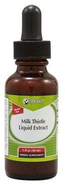 Thistle 1 Ounce Liquid - Vitacost Milk Thistle Liquid Extract - Alcohol Free -- 2000 mg - 1 fl oz