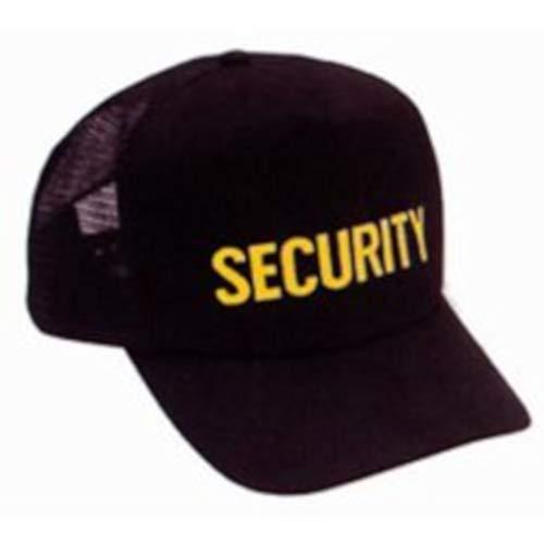 Security Guard Officer Gold Black Mesh Uniform Duty Baseball Hat Cap