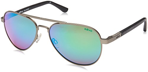 Revo Raconteur Polarized Lightweight Classic Aviator Sunglasses, - Sunglasses Revo Aviator