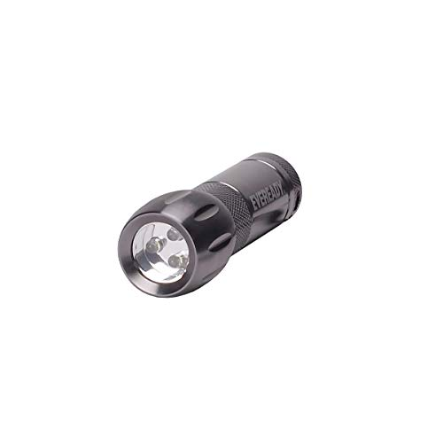 Eveready 3 LED AAA Metal Flashlight, Compact and Water-Resistant (Batteries Included)