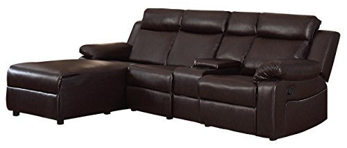 Amazoncom Homelegance Dalal 102 Reclining Sectional With Console