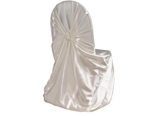 White Satin Universal Chair Cover (Set Of 10). The Perfect Addition To Your  Wedding Reception Or Event. These Are Large Seat Covers Meant To Fit Any  Sized ...