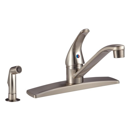 Dura Faucet (DF-NMK600SP-SN RV Kitchen Faucet with Side Sprayer (Brushed Satin Nickel)