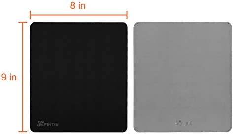 8 x 9 Pulgadas Fintie Alfombrilla de Rat/ón de Cuero Sint/ético Base Antideslizante Negro