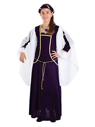 DISBACANAL Disfraz Reina Medieval niña - Único, 8 años ...