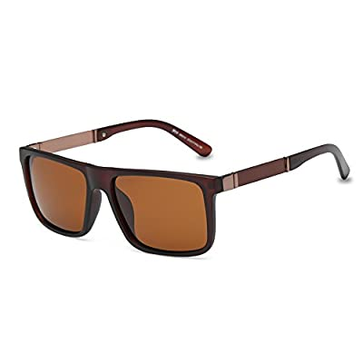 DONNA Trendy Oversized Square Aviator Polarized Sunglasses Wayfarer Style with Big Unbreakable Frame and Anti-glare Lens D54