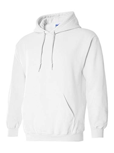 Hooded Pullover Sweat Shirt Heavy Blend 50/50 - White 18500B S -
