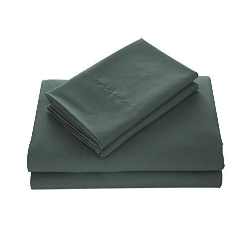 WAVVA Bedding Luxury 4-Pcs Bed Sheets Set- 1800 Hotel Collection Deep Pocket, Wrinkle & Fade Resistant, Cal King, Dark Green, Sedona - Sedona Bedding Set