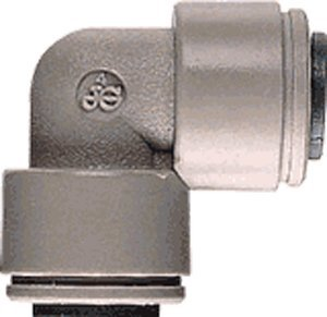 John Guest Equal Elbow 3/8 inch Tube OD x 3/8 inch Tube OD (one supplied) by John Guest