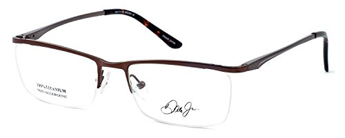 Dale Earnhardt Jr. 6917 Designer Reading Glasses in Brown. Custom made using high quality eyeglass frames and prescription reader lenses. - Made Custom Eyeglasses