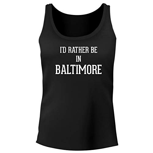 One Legging it Around I'd Rather Be in Baltimore - Women's Funny Soft Tank Top, Black, XX-Large