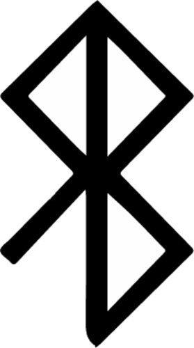 ION Graphics Peace Viking Rune Symbol Vinyl Window Decal - Rune Bumper Sticker - Norse Scandinavian Gift Size: 2.300
