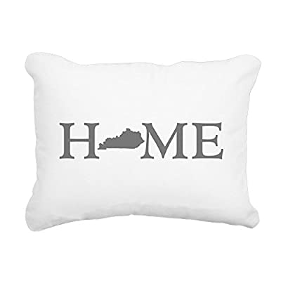 "CafePress - Kentucky Home - 12""x15"" Rectangular Canvas Pillow, Decorative Throw Pillow with Piping, Accent Pillow"